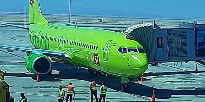 مصر للطيران للخدمات الأرضية تستقبل أولي رحلات Siberia AIR LINES بالغردقة