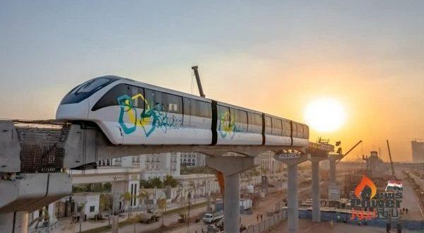 النقل تكشف عن وصول قطارين على مسار مونوريل شرق النيل - العاصمة الإدارية