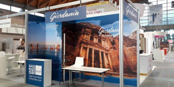 هيئة تنشيط السياحة الأردنية تشارك في معرض ترفل اكسبيرينس تي تي جي بايطاليا