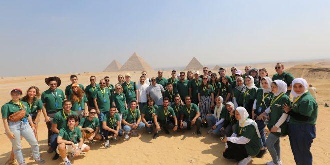 منطقة آثار الهرم تستقبل وفدا روسيا مصريا من المشاركين بمنتدى الشباب
