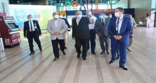 منار يتابع استعدادات مطار الأقصر لاستقبال حركة الطيران خلال الموسم الشتوى